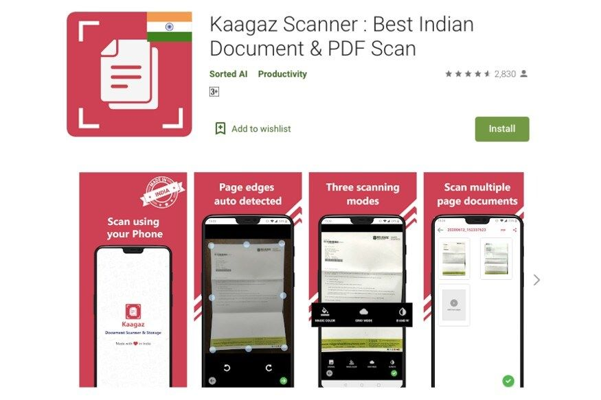 Kaagaz Scanner Crossed Million Downloads