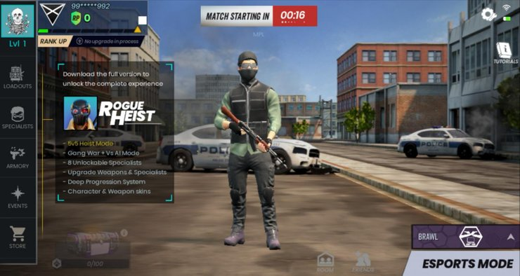 MPL Rogue Heist best pubg mobile alternative
