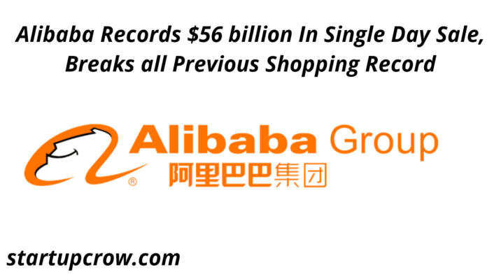 Alibaba Records $56 billion In Single Day Sale, Breaks all Previous Shopping Record