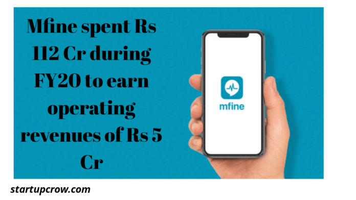 Mfine spent Rs 112 Cr during FY20 to earn operating revenues of Rs 5 Cr
