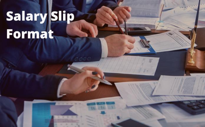 Free Salary Slip Format in Excel
