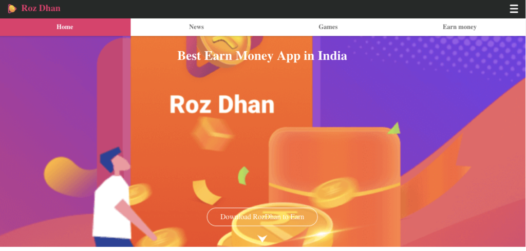 roz dhan money earning app by playing games online