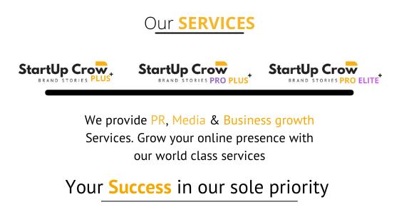Startupcrow PR, Media & Business growth services